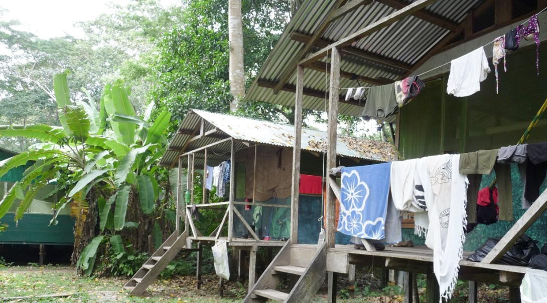 南米ペルー環境保護ボランティアが滞在するボランティアバンガロー